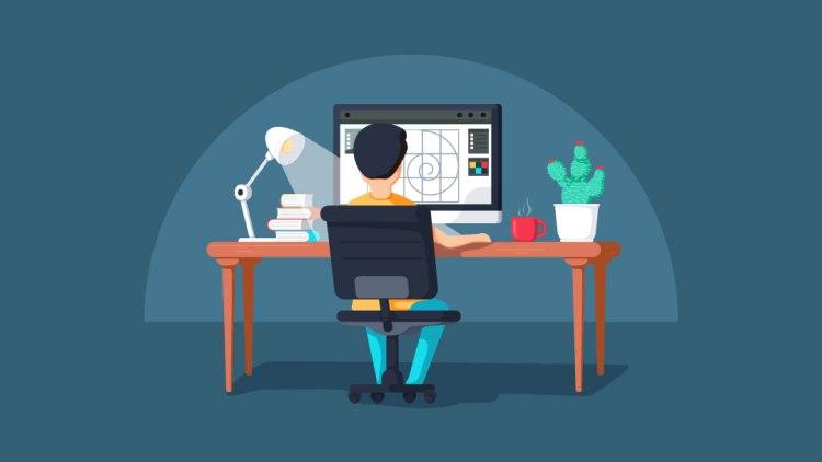 desktop with man moshengraphic