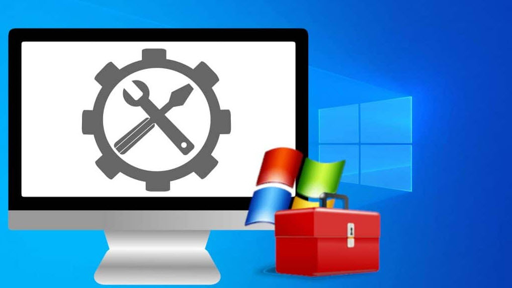 windows  system with tools icon