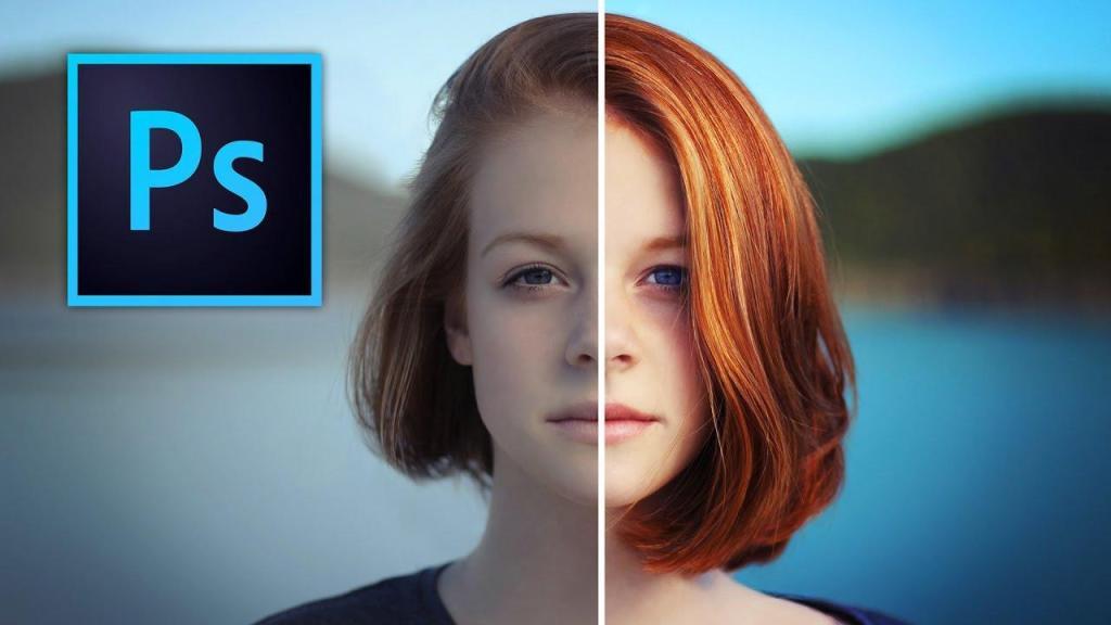 photoshop logo and face girl